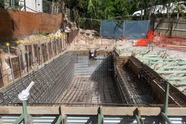 Sunshine Coast builder pool area after